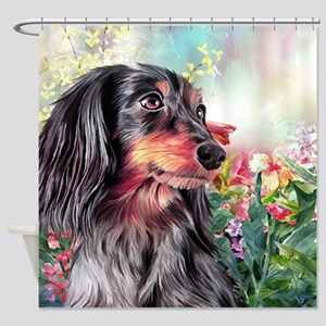 Dachshund Painting Shower Curtain